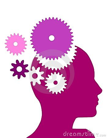 Free Female Head With Gears Stock Photos - 5402883
