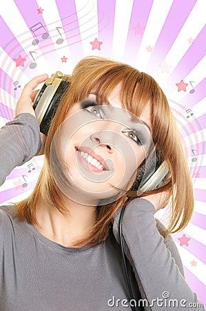 Female with headphones