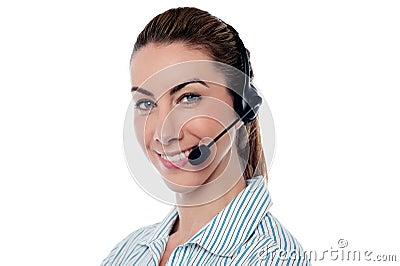 Female help desk executive