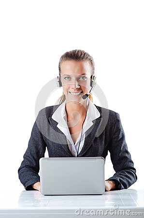 Female helpdesk operator