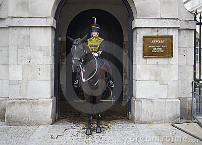 Female Horse Guard Editorial Stock Image