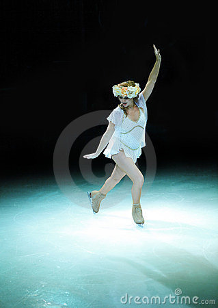Female ice skater Editorial Photo