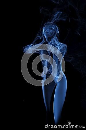 Female image made of fume