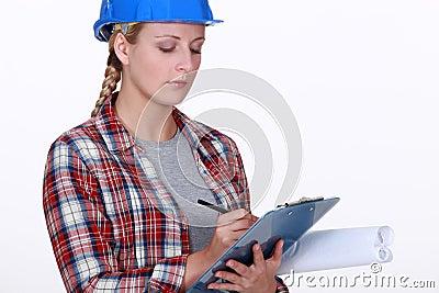 Female inspector
