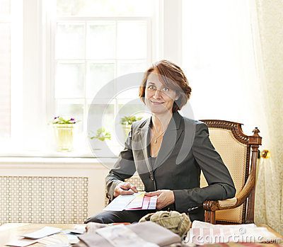 Female Interior Designer Royalty Free Stock Image Image