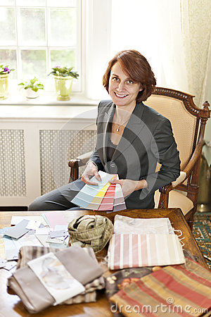 Female Interior Designer Royalty Free Stock Photo Image