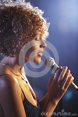 Female Jazz Singer On Stage