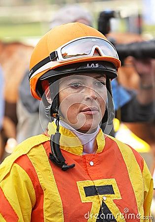 Female Jockey Chantal Sutherland Editorial Photo