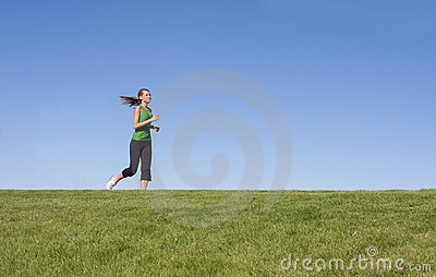 Female Jogger on the horizon