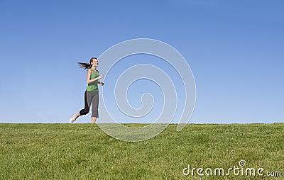 Female Jogger on the horizon