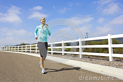 Female Jogger running outdoors