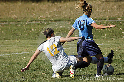Female Junior College Soccer Action