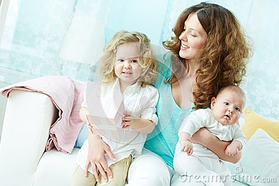 Female with kids