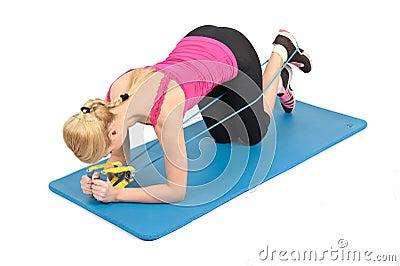 Female kneeling butt blaster