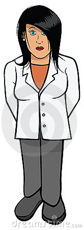 Female lab coat scientist