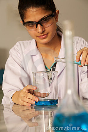 Female laboratory assistant