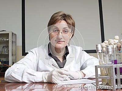 Female laboratory technician