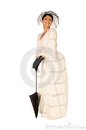 Female in lace dress and accessories
