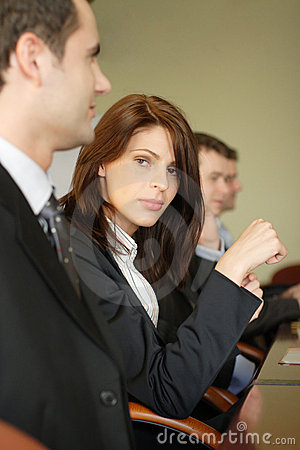 Free Female Lawyer In Conference Royalty Free Stock Image - 1621626