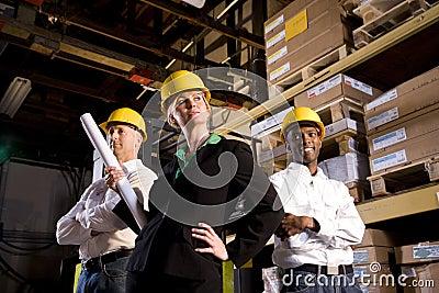 Female leading construction crew