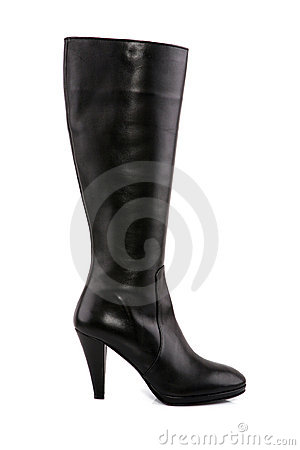 Free Female Leather Boot With High Heel Royalty Free Stock Photos - 16898698