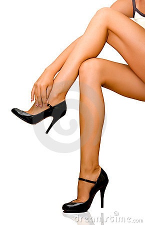 Free Female Legs Royalty Free Stock Photo - 10366425