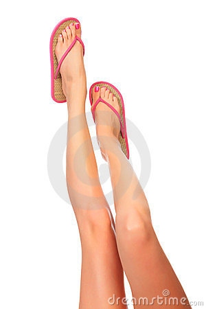 Female legs with sandals