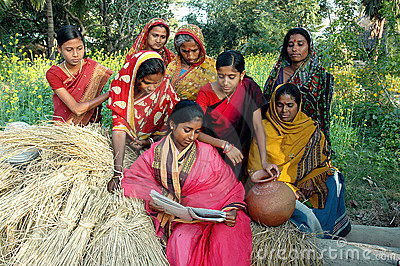 Female Literacy in India Editorial Photo