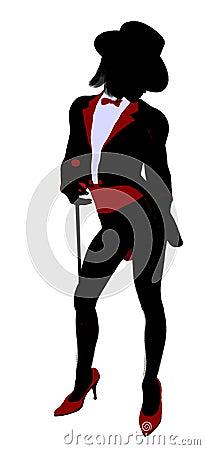 Female Magician Illustration Silhouette