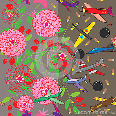 Female Male Bed sheet Seamless Pattern_eps