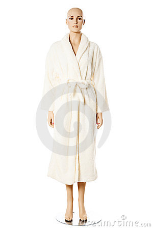 Female mannequin in bath robe | Isolated