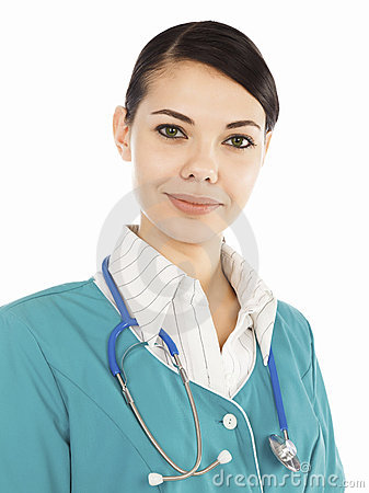 Female medical doctor with stethoscope