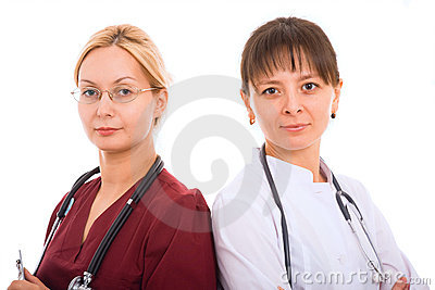 Female medical team.
