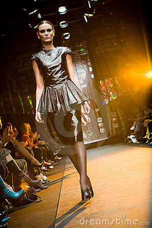 Free Female Model At A Fashion Show At Serguei Teplov C Royalty Free Stock Image - 4846166