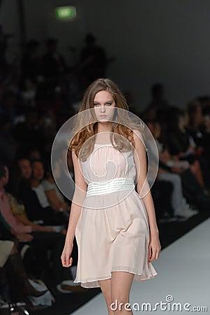 Female model at an Australian fashion show Editorial Image