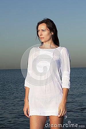 Female model on the beach