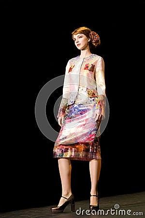 Female model at a fashion catwalk (Russian Fashion Editorial Photography