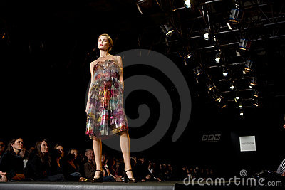 Female model at a fashion show (Russian Fashion We Editorial Photography