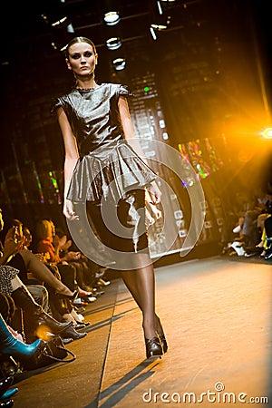 Female model at a fashion show at Serguei Teplov C Editorial Photo