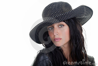 Female Model in a Hat