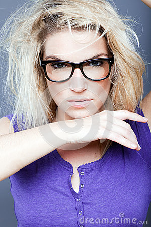 Free Female Model With Fierce Look Royalty Free Stock Photo - 43666145