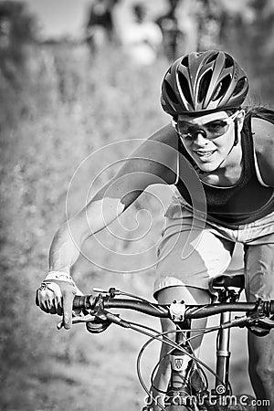 Female Mountain Bike Rider Editorial Image