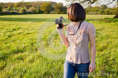 Female nature photographer