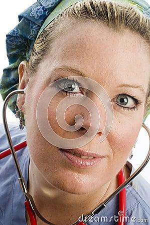 Female nurse head shot with clothing