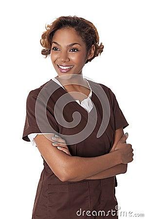 Free Female Nurse In Scrubs. Stock Images - 30522674