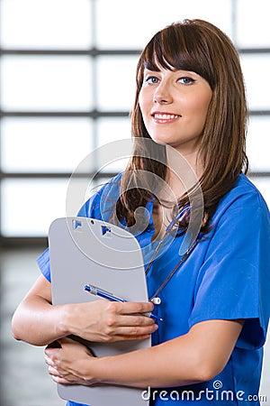 Female Nurse in a modern office