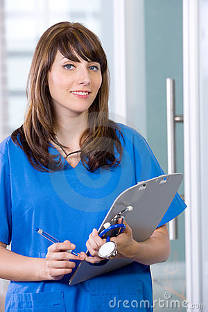 Female Nurse in a modern office