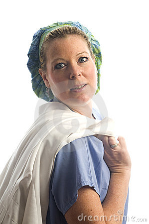 Female nurse  studio portrait