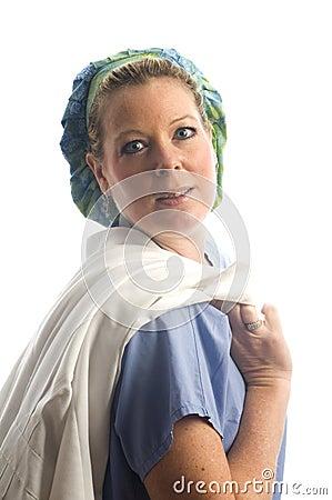 Female nurse  studio portrait