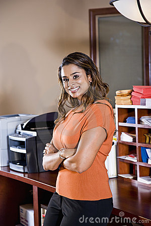 Female office worker, Indian ethnicity